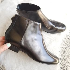 THEORY Patent Leather Ankle Booties 'Miriam' 37.5